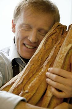 Eric Kayser and his loaves by David Gimbert