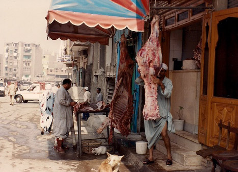 Eyptian butcher in Cairo